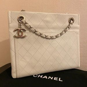 Chanel Ivory Caviar Bag